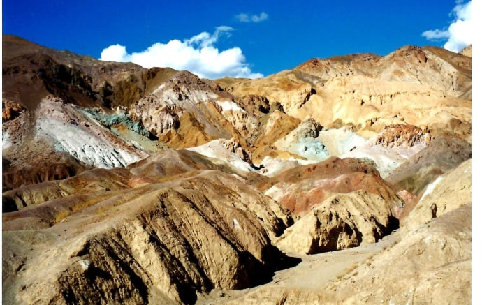 Beautiful colors in this aptly named Artist's Palette area of Death Valley!