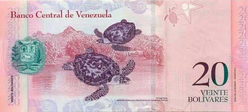 Banknotes in Venezuela (20 bolivar)