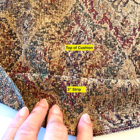 Match up any pattern from the sidewall to the top.