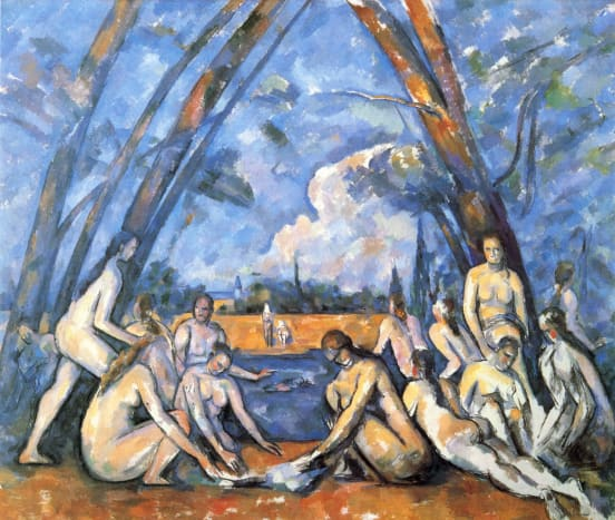 Paul Cézanne, The Large Bathers, 1898–1905. Note that modern art didn't adhere to realist conventions.