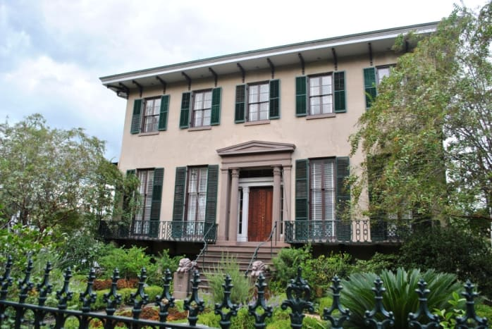 Juliette Gordon Low Home in the Historic District of Savannah, Georgia