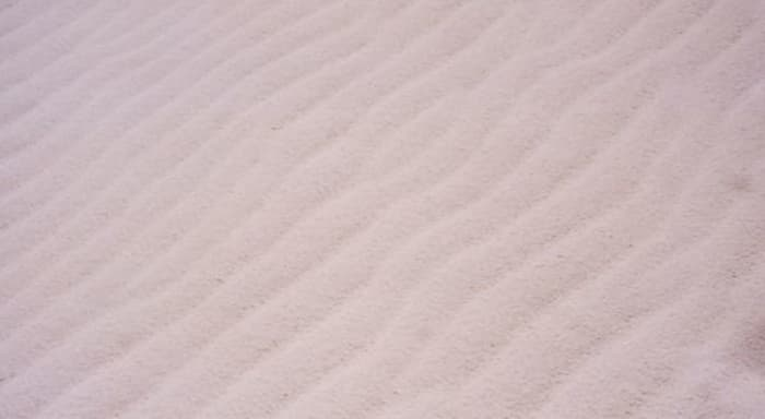 Ripples in the white sands
