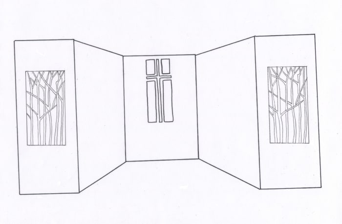 This was the original design for the Lenten panels.