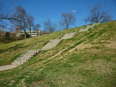View of stairway in Spotts Park