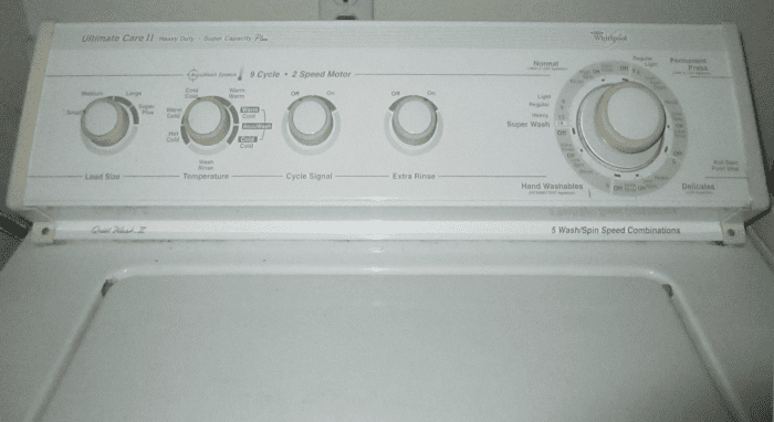 Typical washing machine.