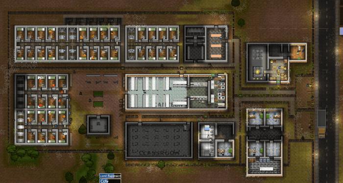 The prison at dawn.