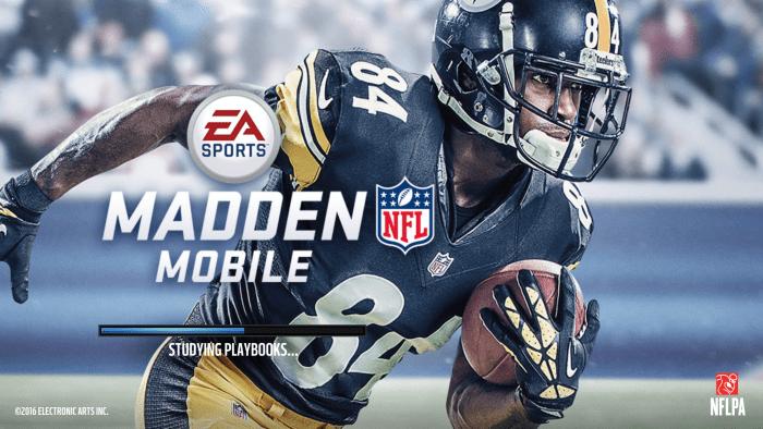 """""""Madden Mobile"""" loading screen."""