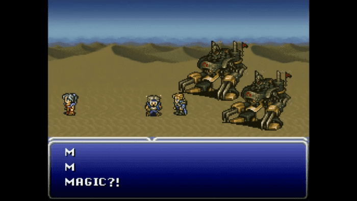 Sprites had much more expression in Final Fantasy VI than in earlier installments.