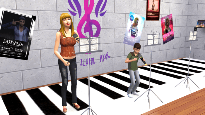 Sims singing together in the club choir!
