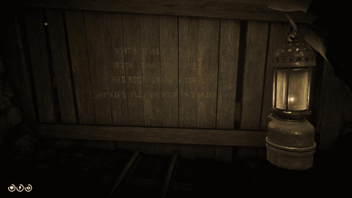 In the mines of Annesburg is a poem etched into a wall relating to this treasure.