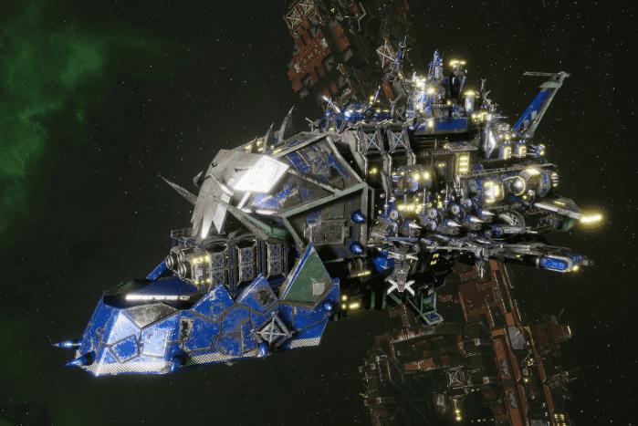 "Ork Light Cruiser - ""Basha Ordzdaka"" - [Death Skullz Sub-Faction]"