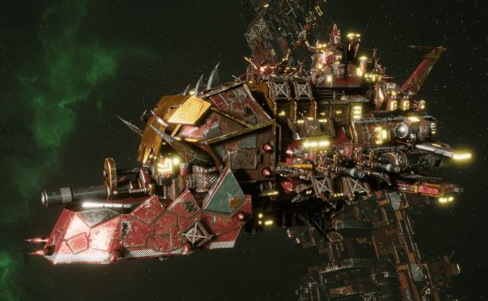 """Ork Light Cruiser - """"Basha Ordzgargdaka"""" - [Ork Pirates Sub-Faction]"""