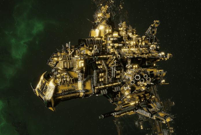 "Ork Cruiser - ""Terror Stompa"" - [Bad Moons Sub-Faction]"