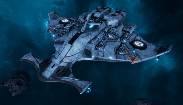 """Tau Protector Fleet Light Cruiser - Il'Porrui """"Emissary"""" Bork'an - [Sa'cea Sub-Faction]"""
