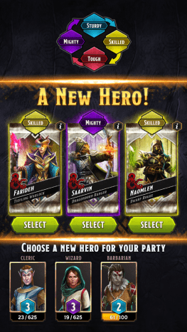 Take note of the Hero Type displayed on the top most in this picture. A balanced hero composition fares well better than single type composition. Think of possible combinations when recruiting a new hero.