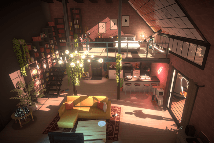 The first Parafolk, named Maggie, has a stunning loft!