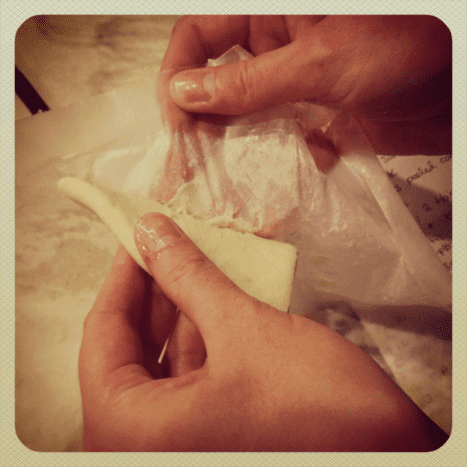 remove from wax paper