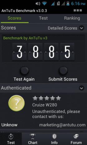 AnTuTu score