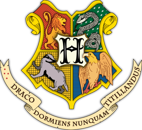 """You can print out a picture of the Hogwarts coat of arms to add a finishing touch to your """"wizard's robes""""!"""