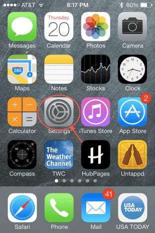 Open the settings app.