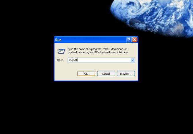 "Type ""regedit"" to edit your registry"