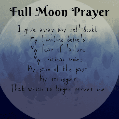 The Full Moon releases energy.