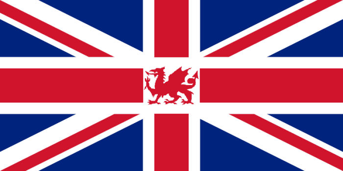 A possible Union Jack which gives recognition to the Welsh Dragon