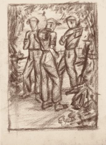 Dutch Soldiers on Patrol in Java 1946-1949 by Synco Schram de Jong