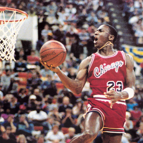 Michael Jordan's athleticism is second to none.