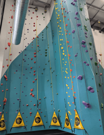 This is an example of auto belay courses. These courses in particular are fairly straightforward and don't have a lot of intermingling of courses, though that is not always true. These courses also vary in difficulty.