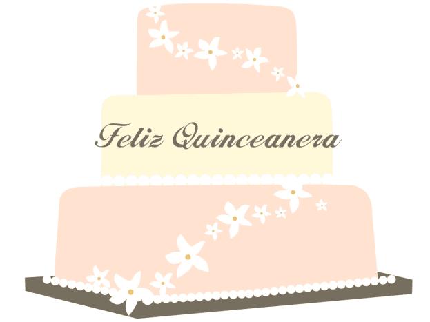 Free Feliz Quinceanera cake clip art