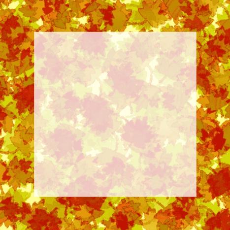 Autumn leaf ghosted clip art frame.