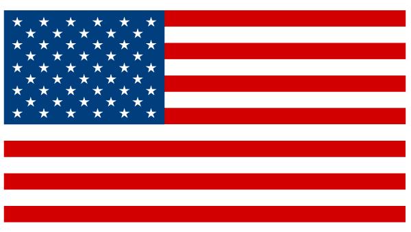 American flag clip art: flat flag