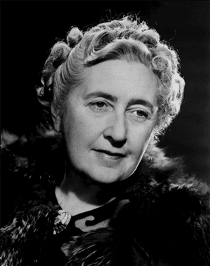 Agatha Christie, an English crime writer of novels, short stories and plays (1890)