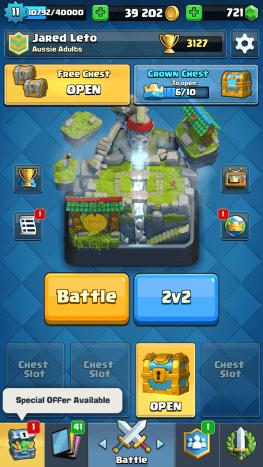 Pre-battle main screen.