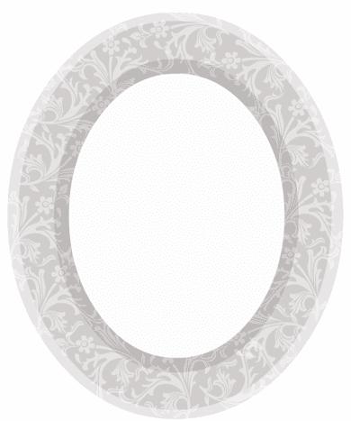 Wedding scrapbook embellishments: oval floral picture frame