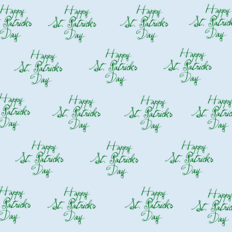 Free happy St. Patrick's Day scrapbook paper: blue background