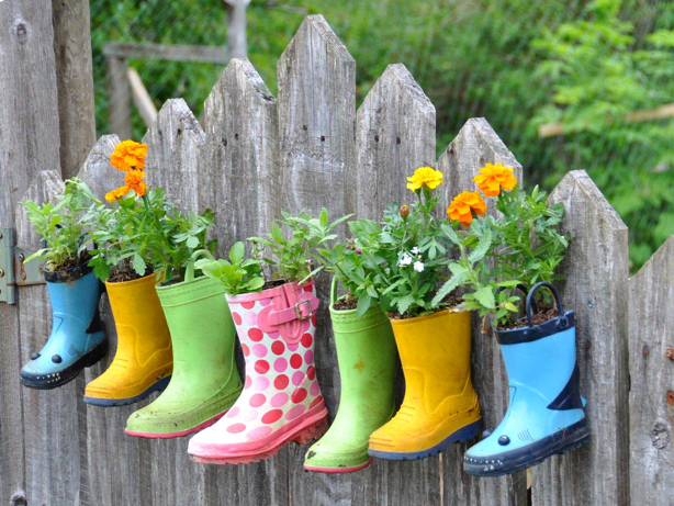 Grow some flowers in those boots!