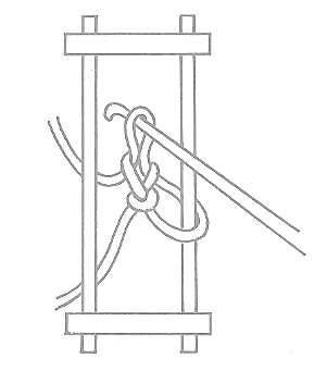 Figure 1 - First Stage in Hairpin Lacemaking