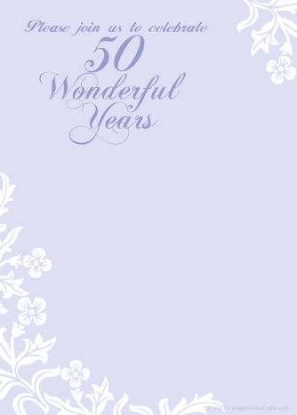 "Purple ""50 Wonderful Years"""