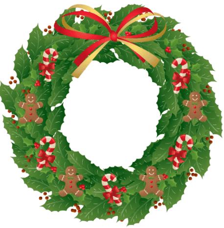 Sweet treats holly wreath.