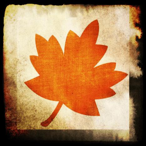 Grungy  leaf fall clip art 1.
