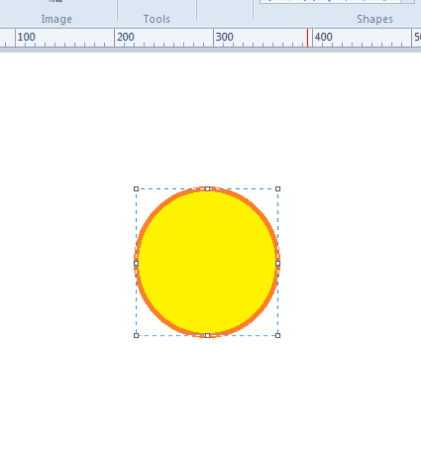 Draw a circle with the Oval shape tool