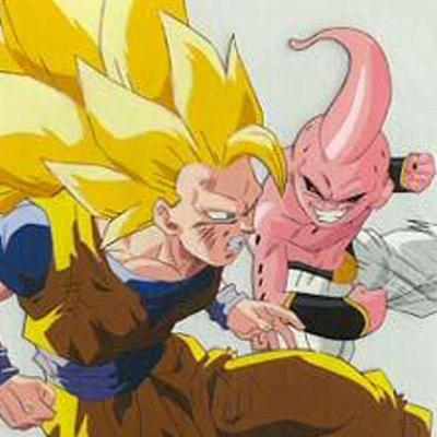 Son Goku SSJ3 vs Kid Majin Buu