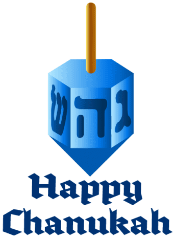 Follow the instructions in the left column to download the Chanukah art