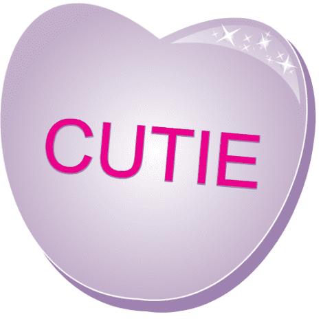 Free valentine clip art: Cutie purple candy heart