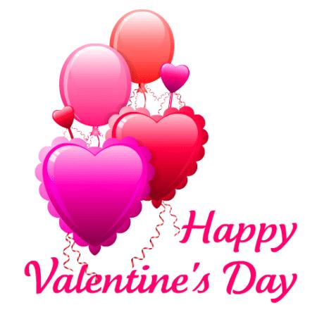 """Valentine's Day balloon clip art """"Happy Valentines Day"""""""