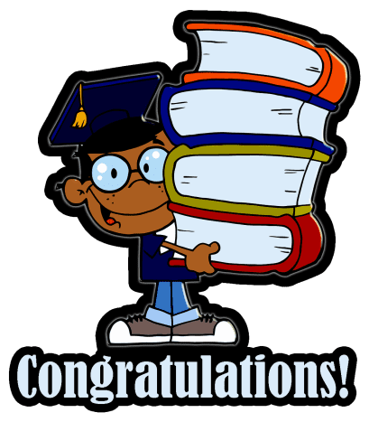 African American boy graduation clip art -- illustration courtesy of CraftyScraps.Blogspot.com