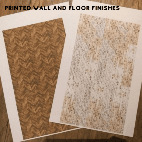 Printables for the wall and floor.