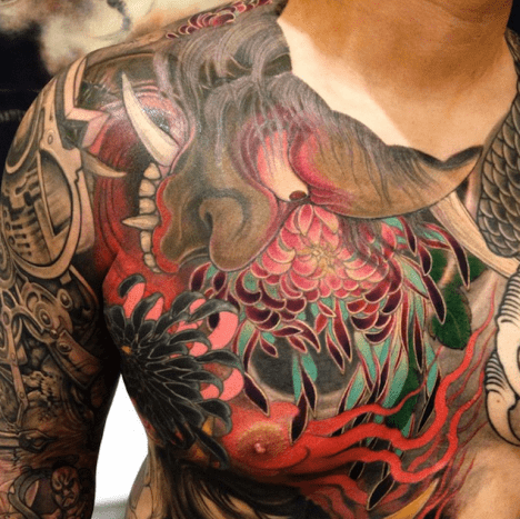 Shige Iwasaki, or Yellow Blaze, a self taught tattoo artist.